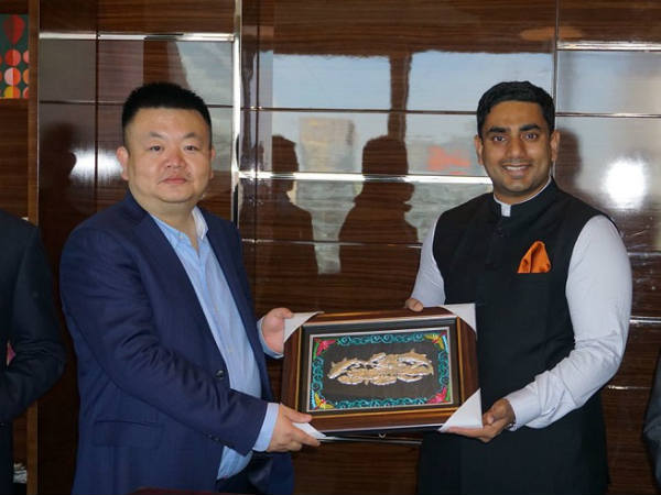 AP IT Minister Nara Lokesh Attended World Economic Forum Meet in China