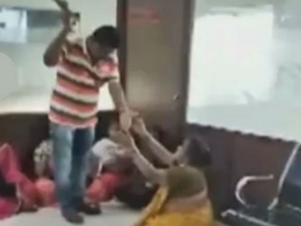 A head constable attacks on women in police station
