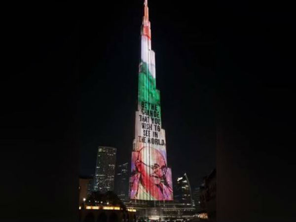 On Gandhi Jayanti, Dubai's Burj Khalifa pays homage by beaming Bapu's images