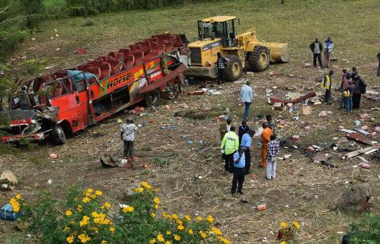 At least 50 killed in Kenya bus crash