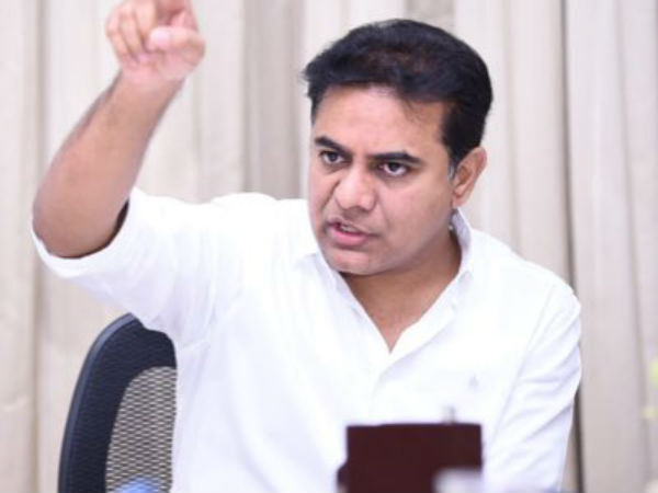 KTR questions alliance of TDP and Congress Party alliance