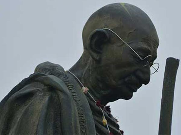 Gandhi Statues destroyed by Unidentified Anti-Socials in Andhra Pradesh