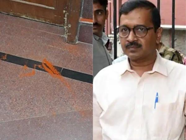 భద్రతా వైఫల్యం: ఢిల్లీ సీఎం కేజ్రీవాల్పై  కారంపొడితో దాడి