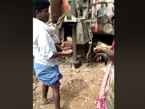 Borewell Coins: Coins coming out from bore well in mahaboobnagar district