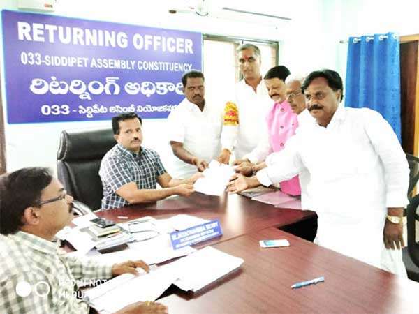 kcr and harishrao filed nominations