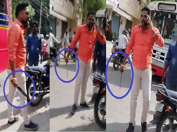 Man Hulchul With Knife in AP Capital area