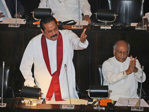 Sri Lanka MPs hurl chilli powder, chairs in Parliament commotion