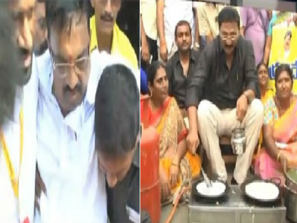 TDP MLC Adireddy Apparao faints during party Padayatra