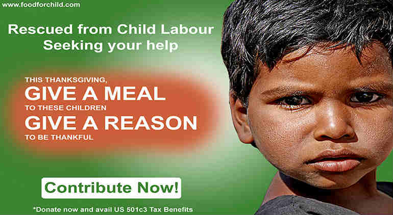 Help children by contributing to Annamrita programme