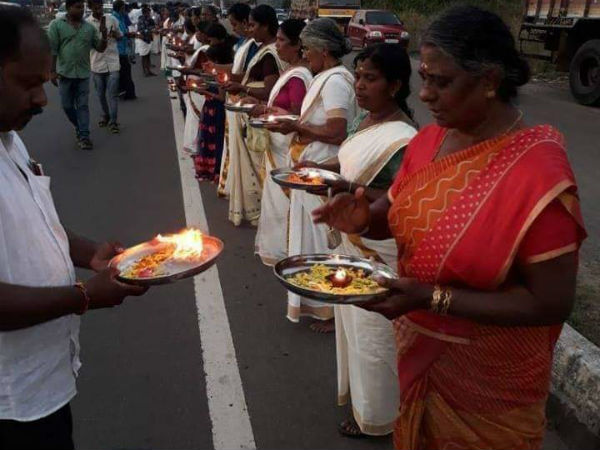 ayyappa devotees innovative protest