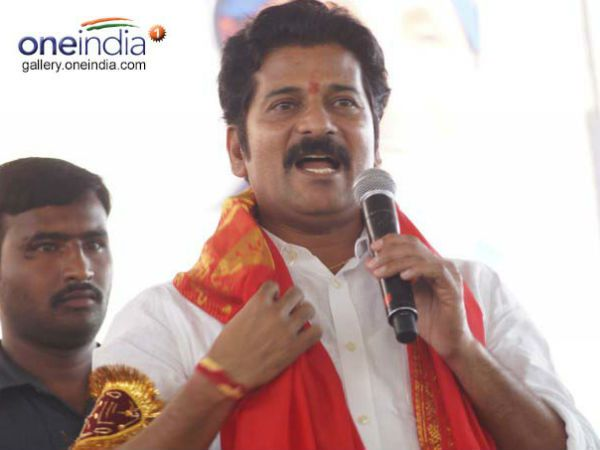 revanth reddy fires on kcr after polling
