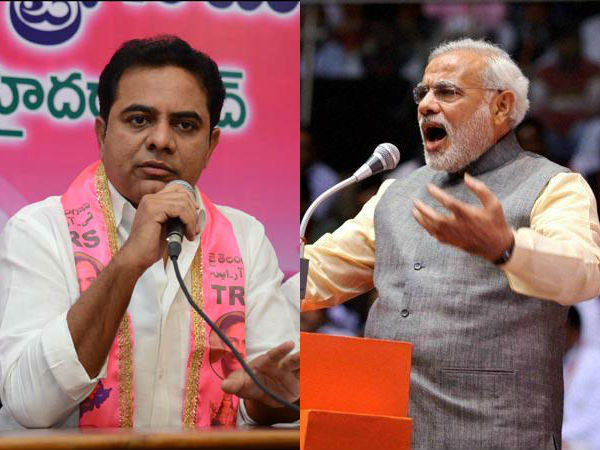 Modi is the prime minster for BJP-ruled states only..? KTR fired on central bjp regarding funds..!!