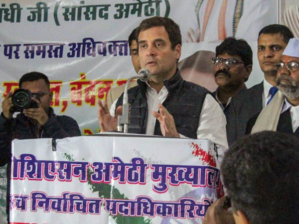 Farmers protest as Rahul Gandhi visits Amethi,shouts slogans to go back to Italy
