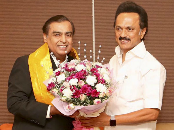 Ambanis Fly To Chennai To Invite DMK Chief MK Stalin For Sons Wedding
