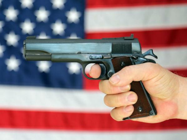 In America Gun Fire Wife Husband Dead