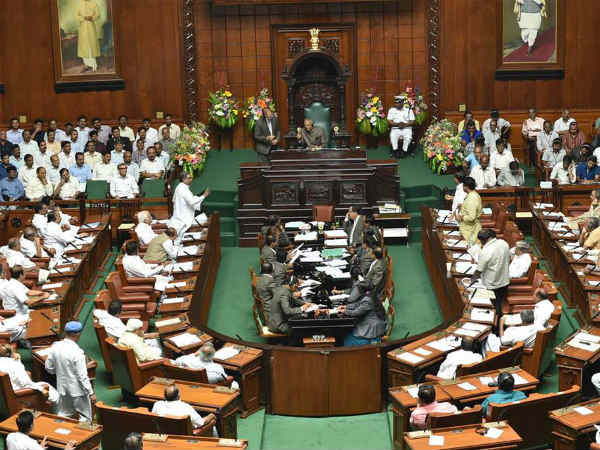 four congress mlas who has under suspension attend assembly session in karnataka