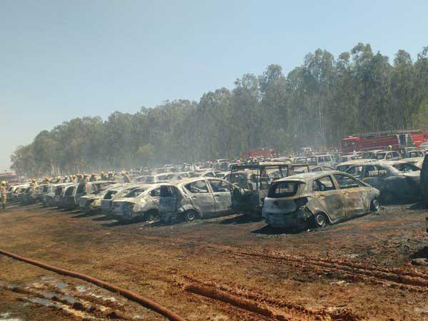 Bengaluru Airshow : How did fire engulf in the parking lot