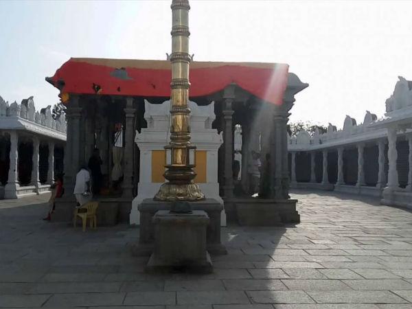 ఉత్తర తిరుపతిగా భాసిల్లనున్న ఇందూరు క్షేత్రం .. శిల్పకళ ఉట్టిపడే గులాబీ రాతి ఆలయం