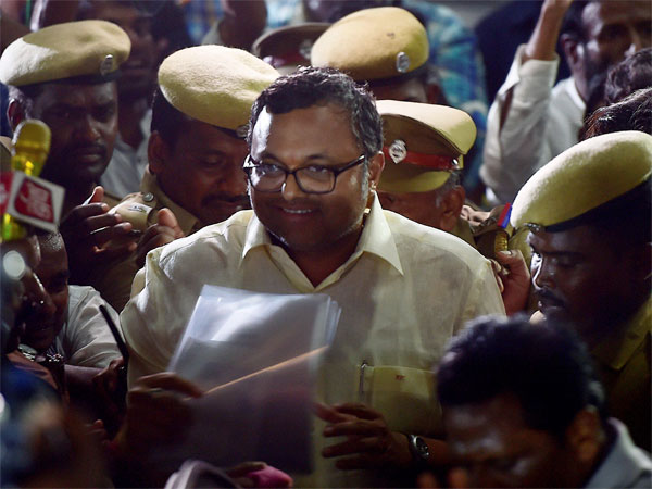 Karti Chidambaram being questioning by ED in INX media case