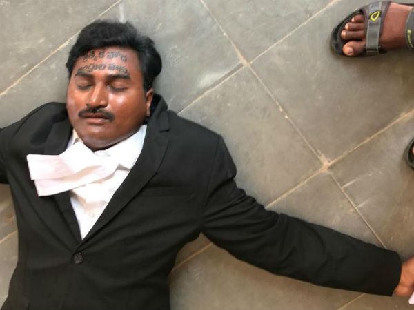 Lawyer Attempt suicide in Court : Demanding Special Status for AP