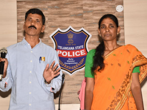 moist sudhaker along his wife surrendered