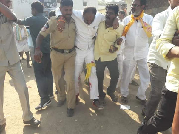 Attack on TDP candidate in mantralayam : Fire open by gunmen