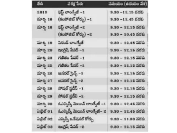 ssc annual exam date midify .. april 3rd english paper-2