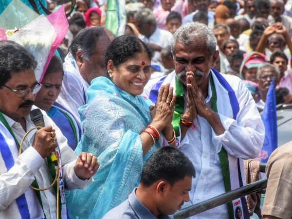 former MLA YS Vijayamma kick start her poll campaign as support to YSRCP candidates