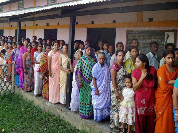 Assam records 42 percent polling till 1pm