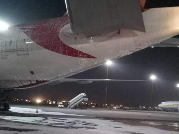 Air India flight to San Francisco catches fire at Delhi airport