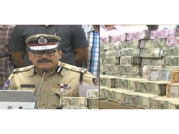 hyderabad police caught 9.45 crores in election time.