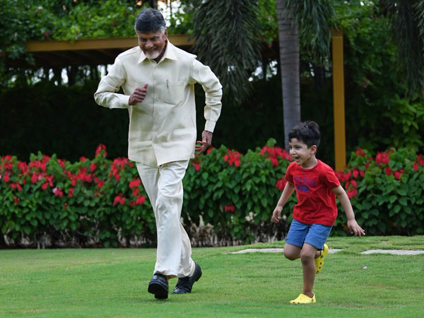 Chandrababu Playing Games With grandson Nara Devansh to avoid election tension