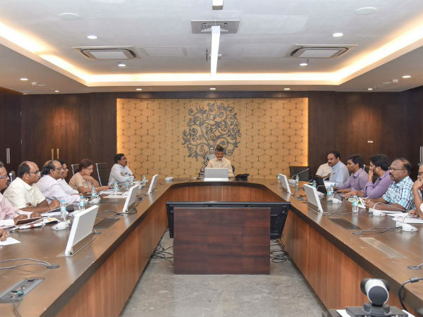 AP CM Chandrababu conducted another official review meeting, EC angry