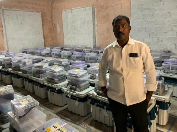in strong room took photo evm : case registered