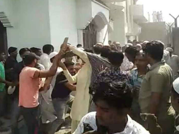 congress activists Fight over biryani in Muzaffarnagar