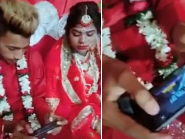 Groom plays PUBG on wedding day video viral
