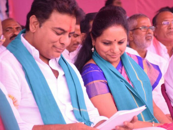 ktr positive, kavita nagitive satements of polling