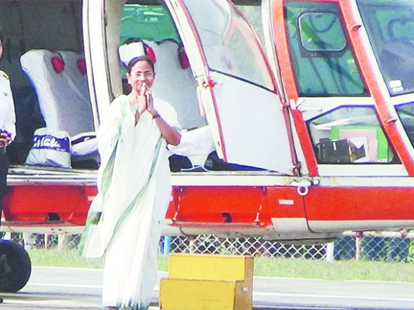 Mamata Banerjee chopper looses its way,tension created in cadre