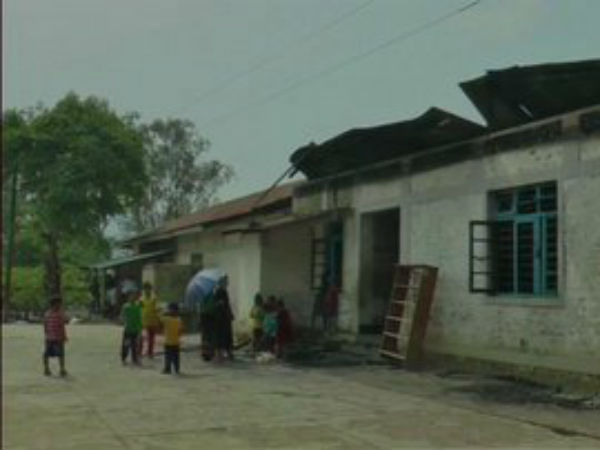 A Christian missionary school in Sugnu of Manipurs Kakching district was burnt down