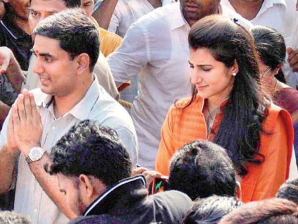 Nara and Nandamuri Family in election campaign...Brahmani in Mangalagiri campaign for Lokesh