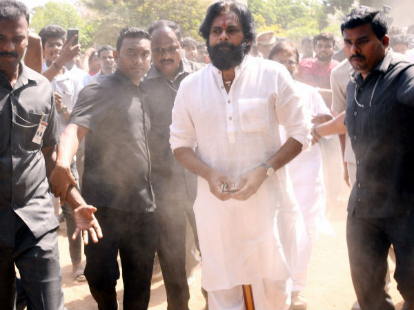 Pawan Trolled Heavily by security over action for Jumping Queue To Vote