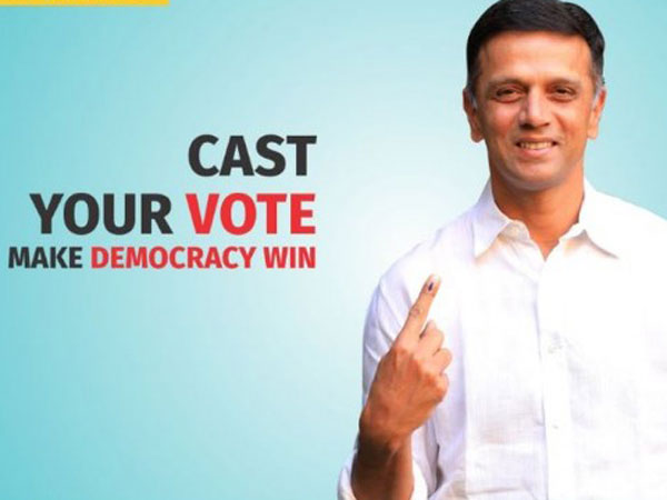 EC Ambassador Rahul Dravid cannot Vote this time