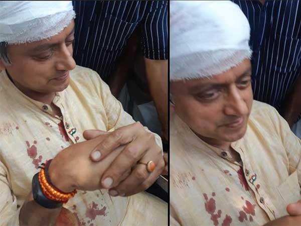 Shashi Tharoor injured as weighing balance breaks during thulabharam ritual