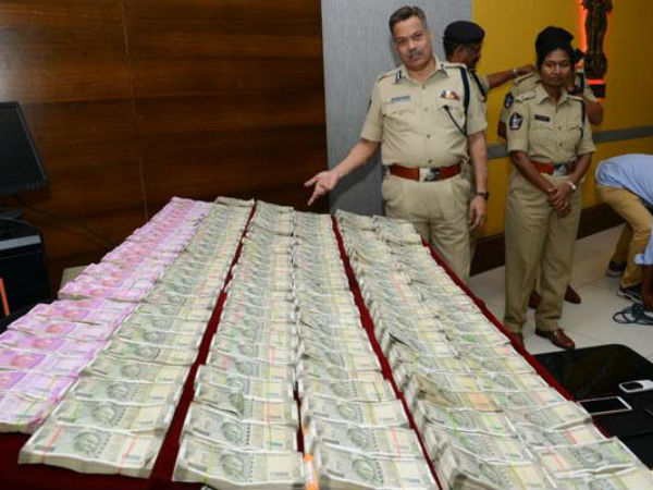 huge money caught in vijayawada as hot topic in election time