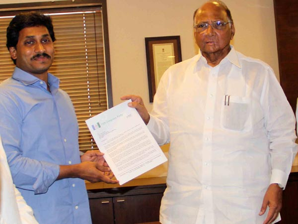 Sharad Pawr call to jagan for support non NDA ally : Jagan not committed opened all options up to counting