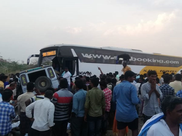 13 were died in a bus and van accident