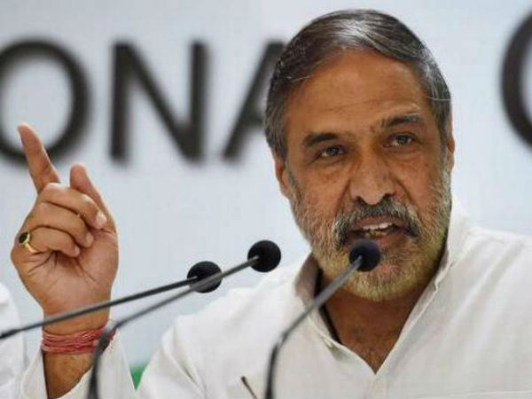 if modi have wife, they go outskirt : anand sharma