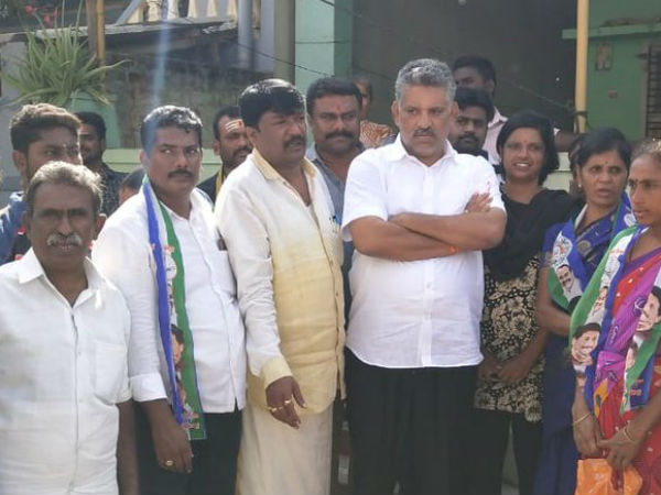 YSRCP Chandragiri Assembly candidate Chevireddy Bhaskar Reddy alleged on Collector for Re polling