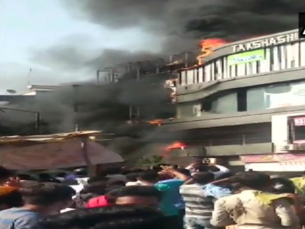 15 killed in Surat coaching centre fire, kids jump from second floor to save lives