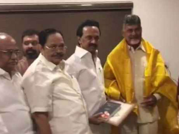 DMK leader Duroi Murugan met Chandra Babu : hot discussion on this meeting..